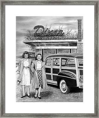 Dinner With The Girls Framed Print by Peter Piatt