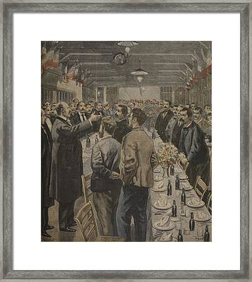 Dinners For The Workers Framed Print by F.L. & Tofani, Oswaldo Meaulle