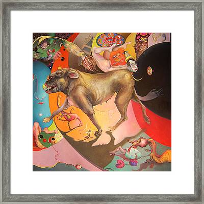 Diptyching Around #1 Framed Print by Linda Horsley