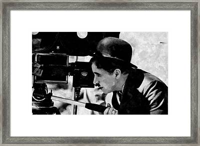 Directed By Charlie Chaplin Framed Print by Florian Rodarte