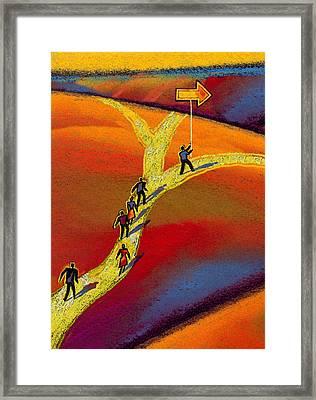 Direction Framed Print by Leon Zernitsky