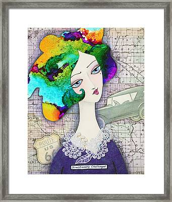 Directionally Challenged Framed Print by Joann Loftus