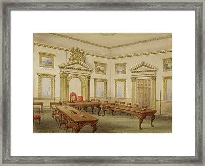 Director's Court Room At East India House Framed Print by British Library
