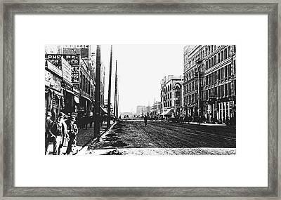Downtown Dirt Spokane C. 1895 Framed Print by Daniel Hagerman