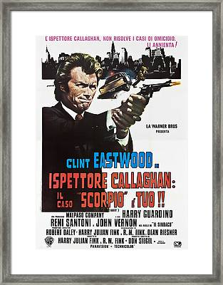 Dirty Harry Aka Ispettore Callaghan Il Framed Print by Everett