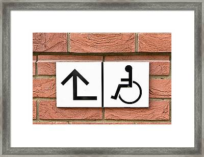 Disabled Sign Framed Print by Tom Gowanlock
