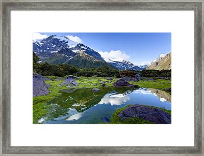 Disappearing Tarn Framed Print by Alexey Stiop