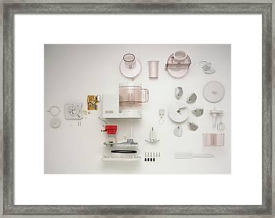 Disassembled Food Processor Framed Print by Dorling Kindersley/uig