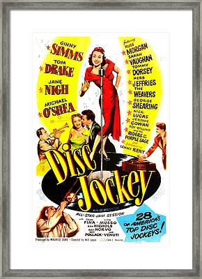Disc Jockey, Us Poster, Ginny Simms Framed Print by Everett