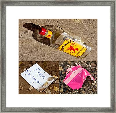 Discarded Paradise 2013 Framed Print by James Warren
