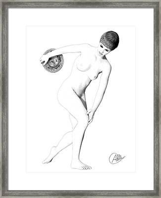 Discus Thrower Exquisite Framed Print by Quim Abella