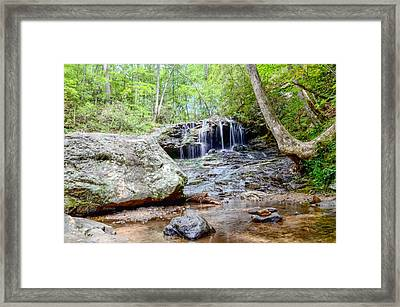 Disharoon Creek Falls Framed Print by Bob Jackson