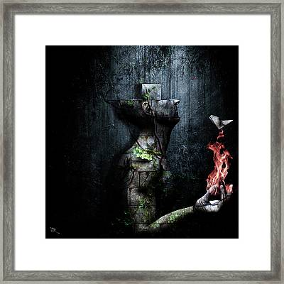 Dismantle The Dark We March On Framed Print by Cameron Gray