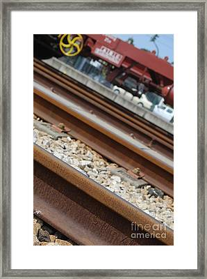 Dismantled Train Station Framed Print by Luis Alvarenga