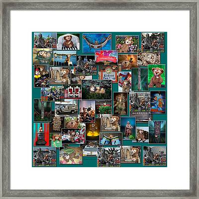 Disney Bear Collage Framed Print by Thomas Woolworth