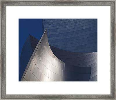 Disney Hall Abstract Framed Print by Rona Black