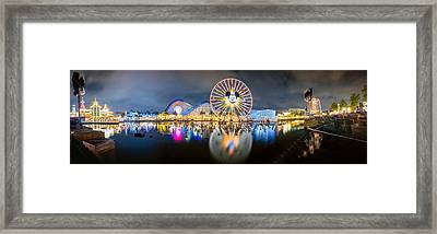 Disneyland World Of Color Panoramic Shot Framed Print by Jerome Obille