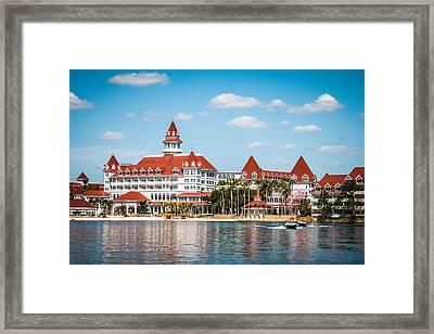 Disney's Grand Floridian Resort And Spa Framed Print by Sara Frank