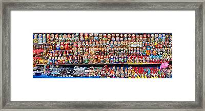 Display Of The Russian Nesting Dolls Framed Print by Panoramic Images
