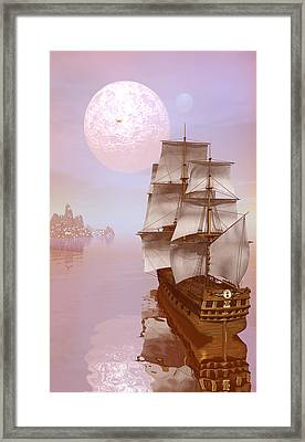 Distant Explorers Framed Print by Claude McCoy