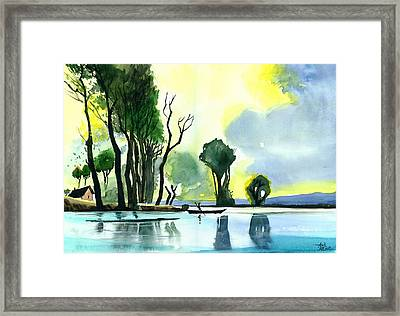 Distant Land Framed Print by Anil Nene