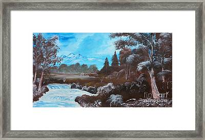 Distant Mountains Framed Print by Collin A Clarke