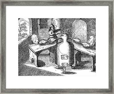 Distillation Of Nitric Acid Framed Print by Universal History Archive/uig