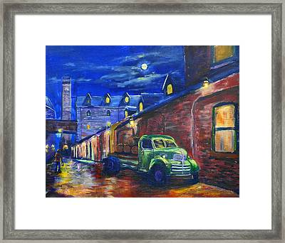 Distillery Night Watch Framed Print by Brent Arlitt