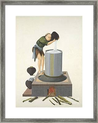 Distilling Spirits, 19th-century China Framed Print by British Library