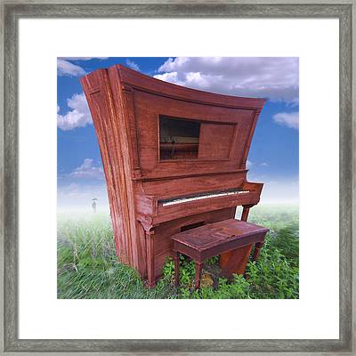 Distorted Upright Piano 2 Framed Print by Mike McGlothlen