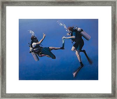 Divers Framed Print by Christopher Reid