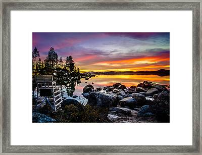 Diver's Cove Lake Tahoe Framed Print by Scott McGuire