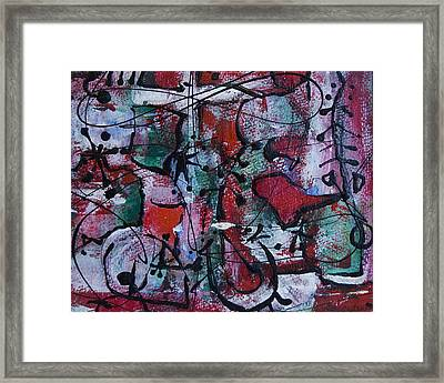 Divertimento No.3 Framed Print by Alexandra Jordankova