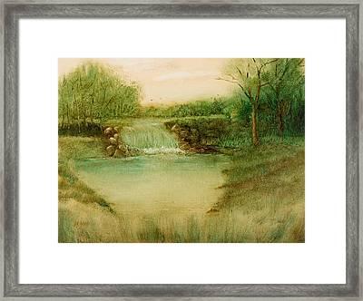 Impressionistic Landscape - Diverting The Flow Framed Print by Barry Jones