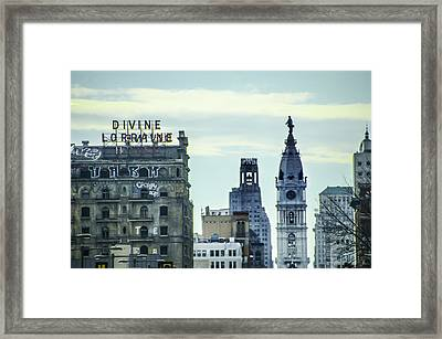 Divine Lorraine And City Hall Framed Print by Bill Cannon