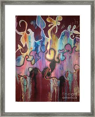 Diving Framed Print by Collette Jones