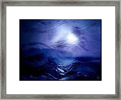 Diving Into The Blue Framed Print by Gun Legler