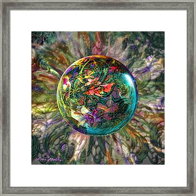 Divining Lace Framed Print by Robin Moline