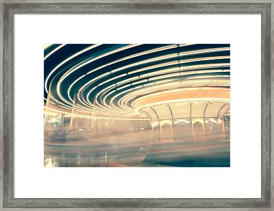 Dizzy Lights Framed Print by Elyssa Drivas