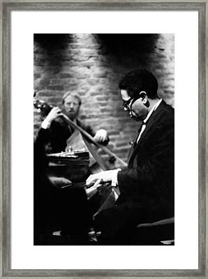 Dizzy On Piano Framed Print by Dave Coleman