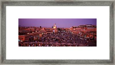 Djemma El Fina, Marrakech, Morocco Framed Print by Panoramic Images