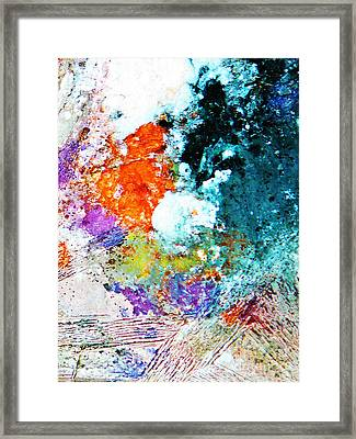 Djinn Blows ... Dove Floating In The Wind Framed Print by Chris Sotiriadis