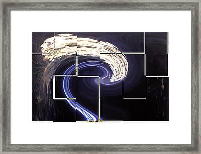 Djinn Traveling At Night Framed Print by Gregory Lafferty