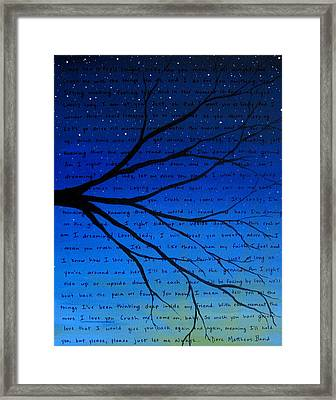 Dmb Crush 11x14 Framed Print by Michelle Eshleman