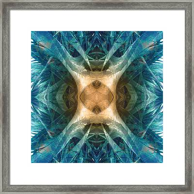 Dna Activation Framed Print by Filippo B