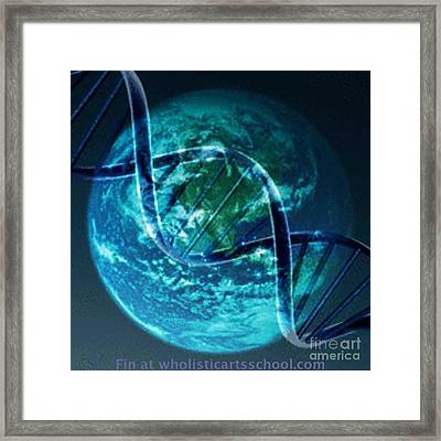 Dna Globe Framed Print by PainterArtist FIN