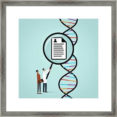 Dna Profiling Framed Print by Mark Airs