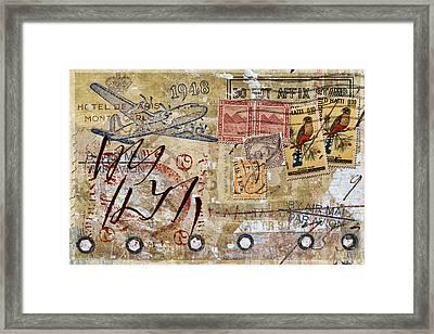 Do Not Affix Stamp Framed Print by Carol Leigh