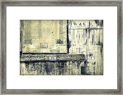 Do Not Block Door Framed Print by Valentino Visentini