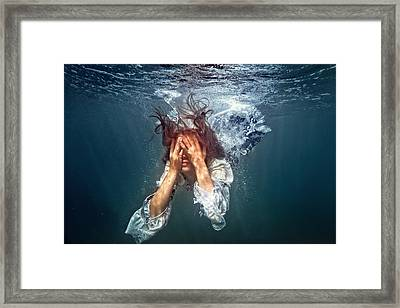 Underwater Diva Framed Print featuring the photograph Do Not Cry, Alice by Dmitry Laudin